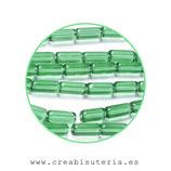 Abalorios -  Tubos de cristal 10x4mm - tira 32 unidades aprox. ATUBOS10M
