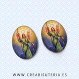Cabuchón Cristal Religión - Arcángel Rafael