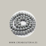 Abalorios -  Cristal facetado  8x6mm color Gris C04882 (65 unidades)