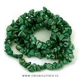 Abalorios Howlita Chips de color verde oscuro  C83 - tira de aproximádamente de 84cm