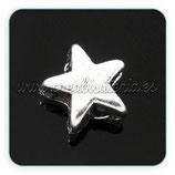 Entrepieza P1 - 04 estrella mini plata antigua 6mm (20piezas) ENt54