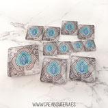 Lote liquidación -  Azulejo modernista turquesa y gris