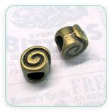 Entrepieza  cuero espiral agujero 4,5mm  ENTOOO-R1173m (10 unidades)