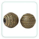 Bolsita 4 bolas grandes doradas estilo étnico