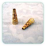 Cascarilla 70 trompeta mediana dorada (10 unidades)