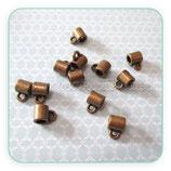Entrepieza con ASA - EA013-  lisa tubo pequeño bronce antiguo con asa (10 piezas) ENTOOO-R14783b