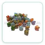 Abalorio acrílico bicono colores variados perla 6-7mm ABA-PQ112 ( 40 unidades)