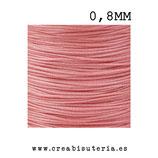 Cordón macramé Gama Deluxe 0,8mm  Color salmón oscuro  (5 metros)
