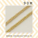Cordón macramé 1,30 mm 90 metros color Trigo M1TRIGO