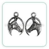 Charm cabeza caballo y herradura  CHAOOO-C33949 (10 unidades)