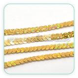 Cinta de lentejuelas dorada CIN-C17643 (4 metros)