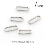 INOX - ANILLA cerrada en medio plana  acero inoxidable 10x3,5x2mm P1504 (20 unidades)