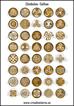 Lámina Imágenes de Símbolos Celtas Óxido II
