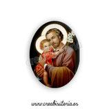 Cabuchón Cristal Religión - San José y Niño Jesús