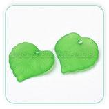 FLORLUCIT 30 - Hojas acrílicas redonditas 15x15mm color verde  (30 Unidades)
