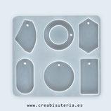 Molde de silicona , Piezas variadas para etiquetas, llaveros, etc MS024