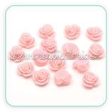 Cabuchón Resina flor rosa 14mm (5unid)CABOOO-C16950