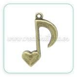 Colgante nota musical y corazón COLOOO-C02613