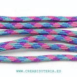 CESCALADA027 - Cordón de Nylon de Escalada  4mm  ModeloPop A80 Turquesa malva fucsia azul (3 Metros)