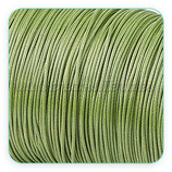 Cordón plastificado verde oliva  finito 1mm (4 metros)