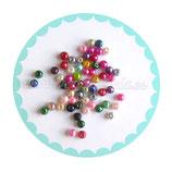 60 unidades Perlas sintéticas colores variados diámetro 4x4mm