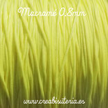 Cordón macramé 0,8mm   Color Amarillo  Limón  (5 metros)