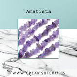 Abalorio piedra amatista chips 5/8mm una tira AMATISTA205