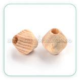 Madera abalorio bicono madera virgen 16x15mmclara  MAD-P012-03B (10 unidades)