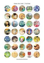 35 obras de Arte 30x30mm