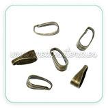 Util - Colgante clip bronce viejo pequeña ACCOTR-C60332 -20 piezas