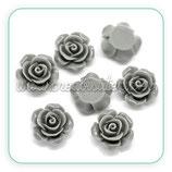 Cabuchón Resina flor gris 14mm (6unid)CABOOO-C17952
