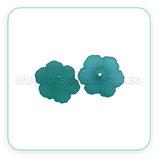 FLORLUCIT 60 -Flores acrícilicas minis  new* 11x4,5mm cerceta (30 Unidades)P561-9