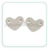 INOX - Conector corazón acero inox  CON-PQ169-02 (2 unidades)