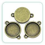 Camafeo conector redondo bronce viejo 15x15mm CAMBAS-R0021b
