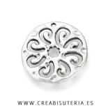 COLGANTE - Mandala espirales New* 25mm irregular P639 (4 unidades)