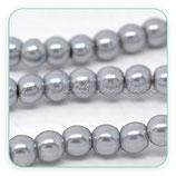 Abalorio cristal gris aperlado 6mm (1 tira de 145unidades aprox.) ABAL-Cristal C11369H