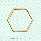 Aro poligonal 6 lados dorado  -   (20 unidades)
