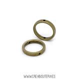 Entrepieza B3 - 31 - OVAL  tipo anillo/aro con agujero arriba y abajoC743 (6unidades)