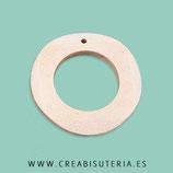 Madera colgante Aro plano y redondo tipo flamenca  irregular 36,5x3,5mm MADP3-25 (10 unidades)