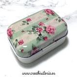 Cajita de lata  plana estilo vintage pequeña rectangular  CAJ-Modelo
