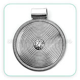 Colgante Mandala étnica medallón grande círculos   -  C7850