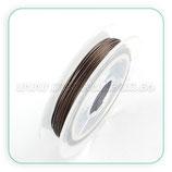 Hilo de alambre de acero marrón/bronce Pequeño  0.38m (10m) HIL- PS21