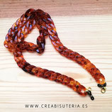 Producto acabado - Cuelgamascarillas o cuelgagafas cadena de eslabones color carey