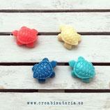 Abalorios Coral de imitación - tortugas de mar pequeñas - 4 unidades colores de la foto