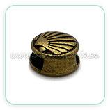 Entrepieza cuero concha pequeña bronce viejo ENTOOO-R32380b (10 unidades)