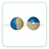Madera abalorio bola bicolor 18mm  (5 bolas colores variados)