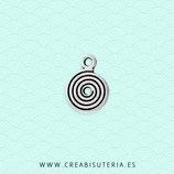 Charm Espiritual  espirales 02- espiral mini plateada (30unidades) C83
