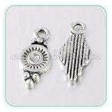 Charm varios - GOTA ornamental bolitas  CHAOOO-PEA270Y (10 piezas)