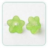 FLORLUCIT 25 -Flores color verde claro 13x7mm (16 Unidades)