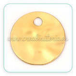Dorado Mate - medalla 20mm   010  (2 unidades)